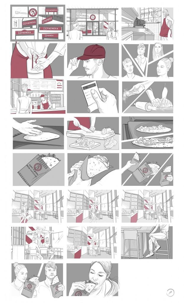 storyboard for Mediaset